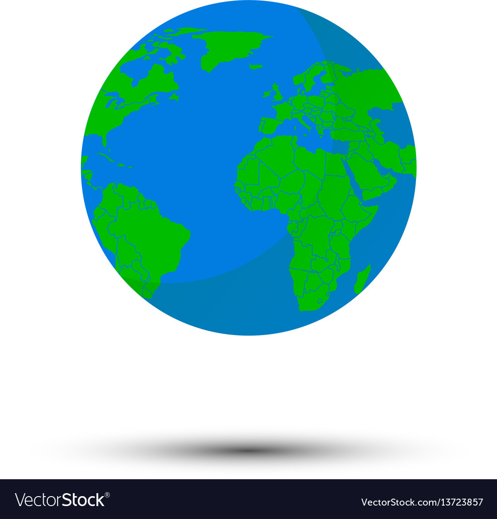 Globe world map royalty free vector image vectorstock globe world map vector image gumiabroncs Gallery