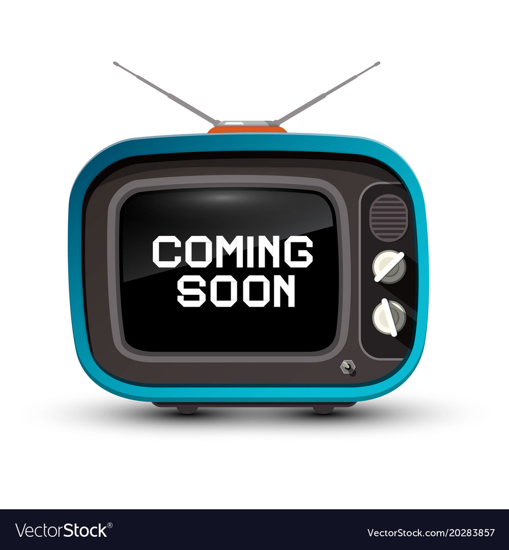 Retro tv with coming soon title on screen vector image