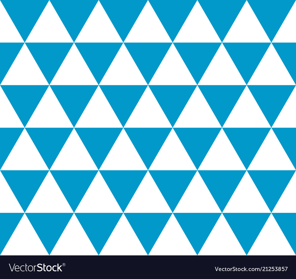 Seamless geometric pattern of isometric triangles