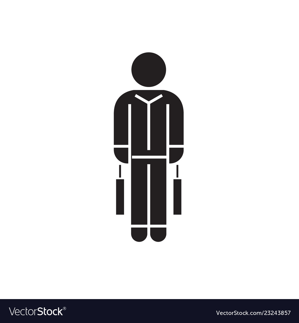 Shopping man with bags black concept icon
