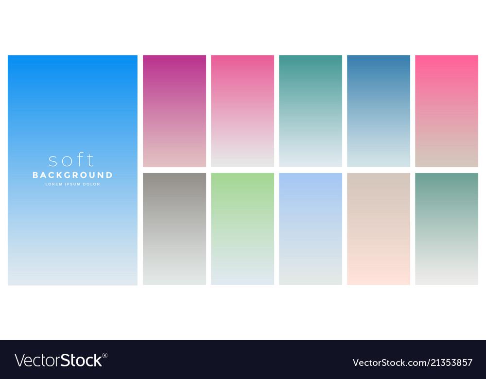 Soft gradients colors swatch set