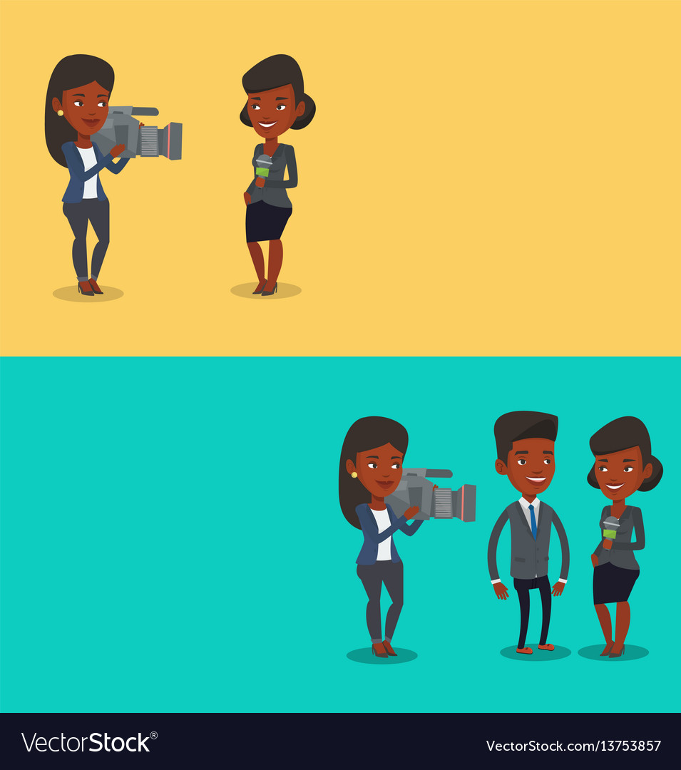 Two media banners with space for text
