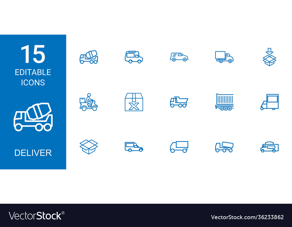 15 deliver icons