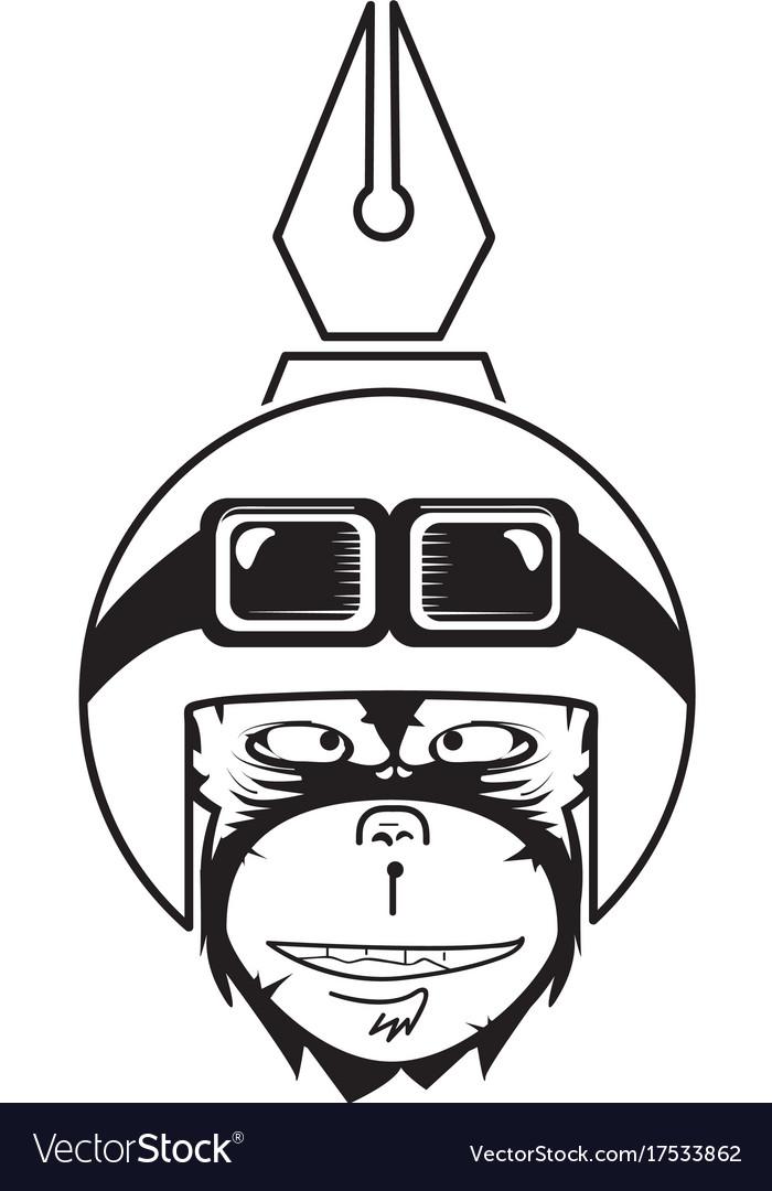 Creative monkey vector image