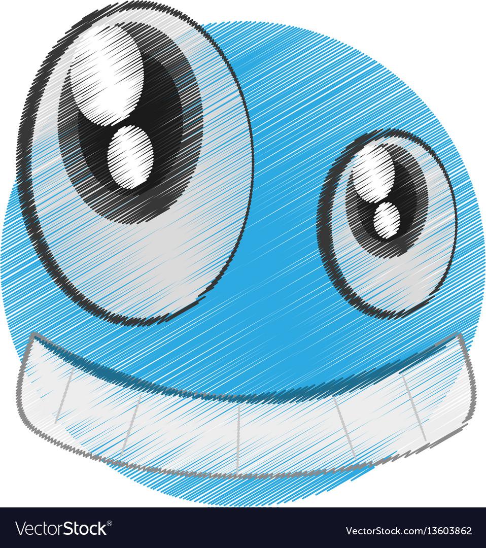 Drawing emoticon happy april fools day vector image