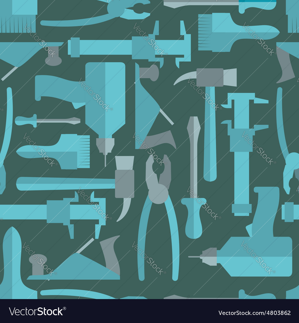 Seamless Construction Hand tools pattern