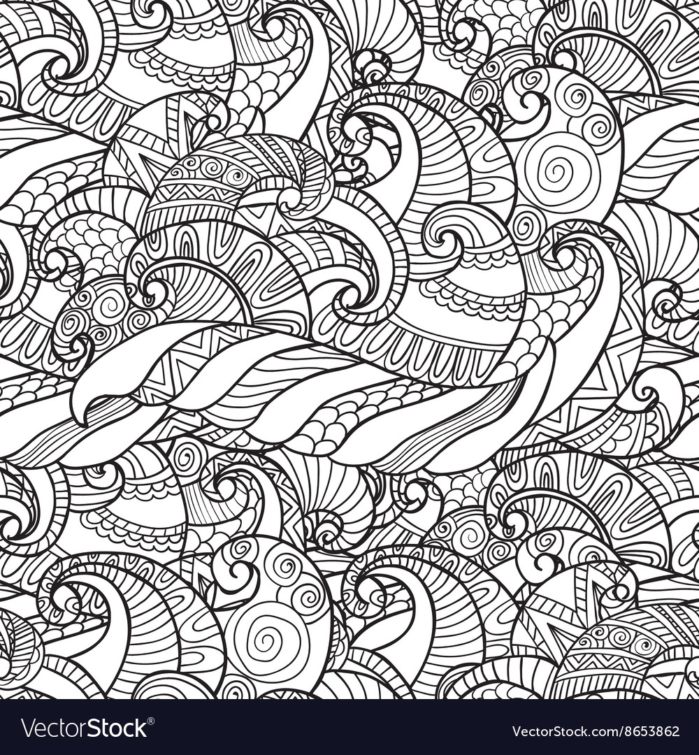 Seamless Pattern from waves