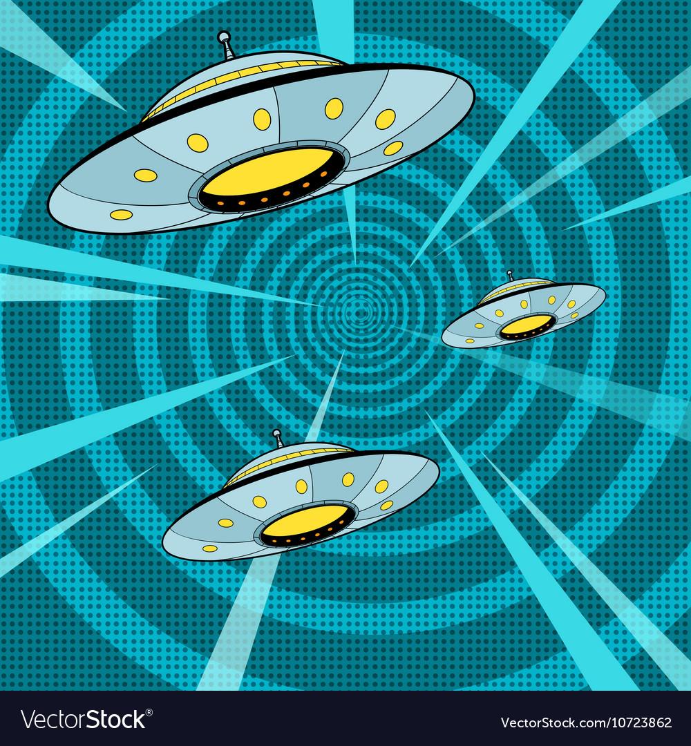 Space attack UFO vector image