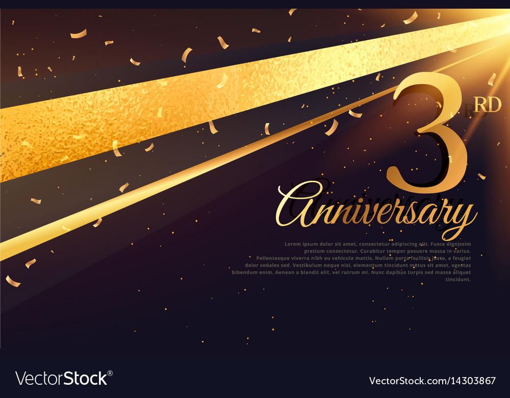 3rd anniversary celebration card template