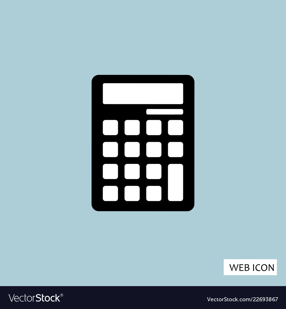 Calculator icon calculator icon eps10 calculator