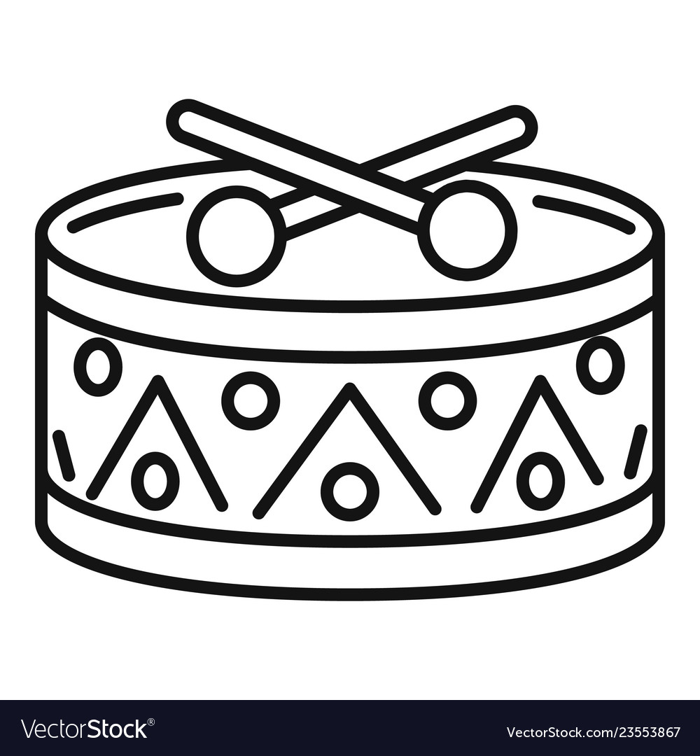 Drum Clipart Black And White Vector Images 47