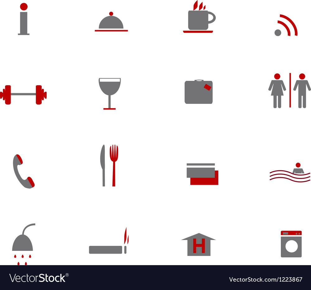 Hotel icons two colors
