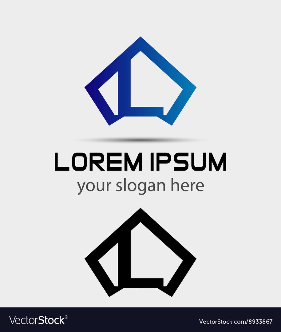 Letter L logo icon design template vector image