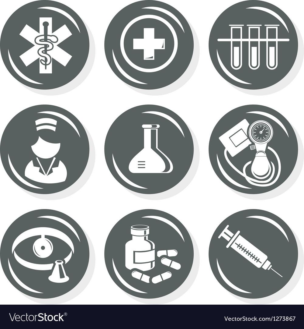 Medical nurse icons
