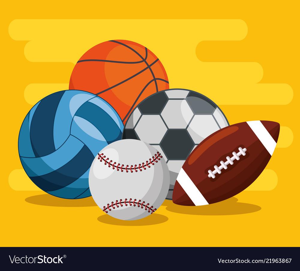 Sport Balls Pattern Background Vector Image