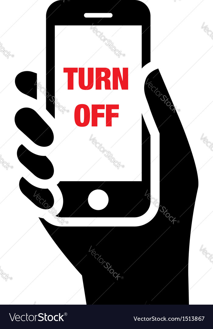 turn off mobile phones icon royalty free vector image