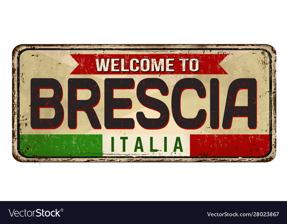 Welcome to brescia vintage rusty metal sign