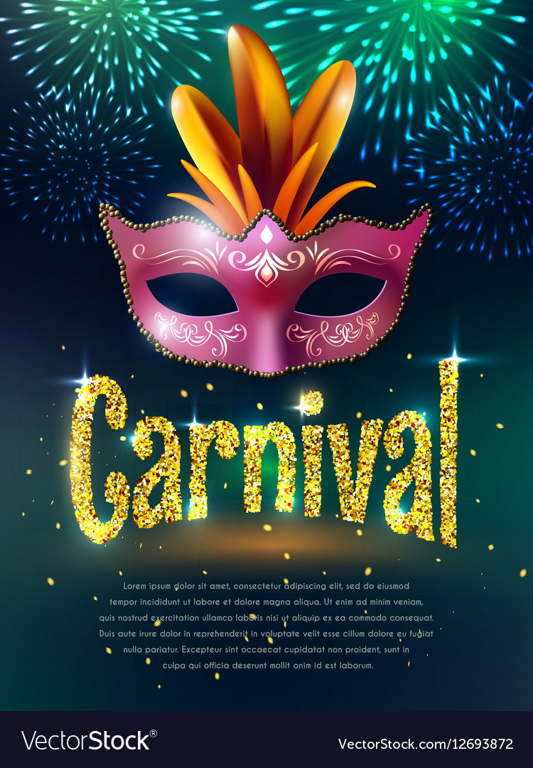 Carnival Masquerade Background Poster vector image