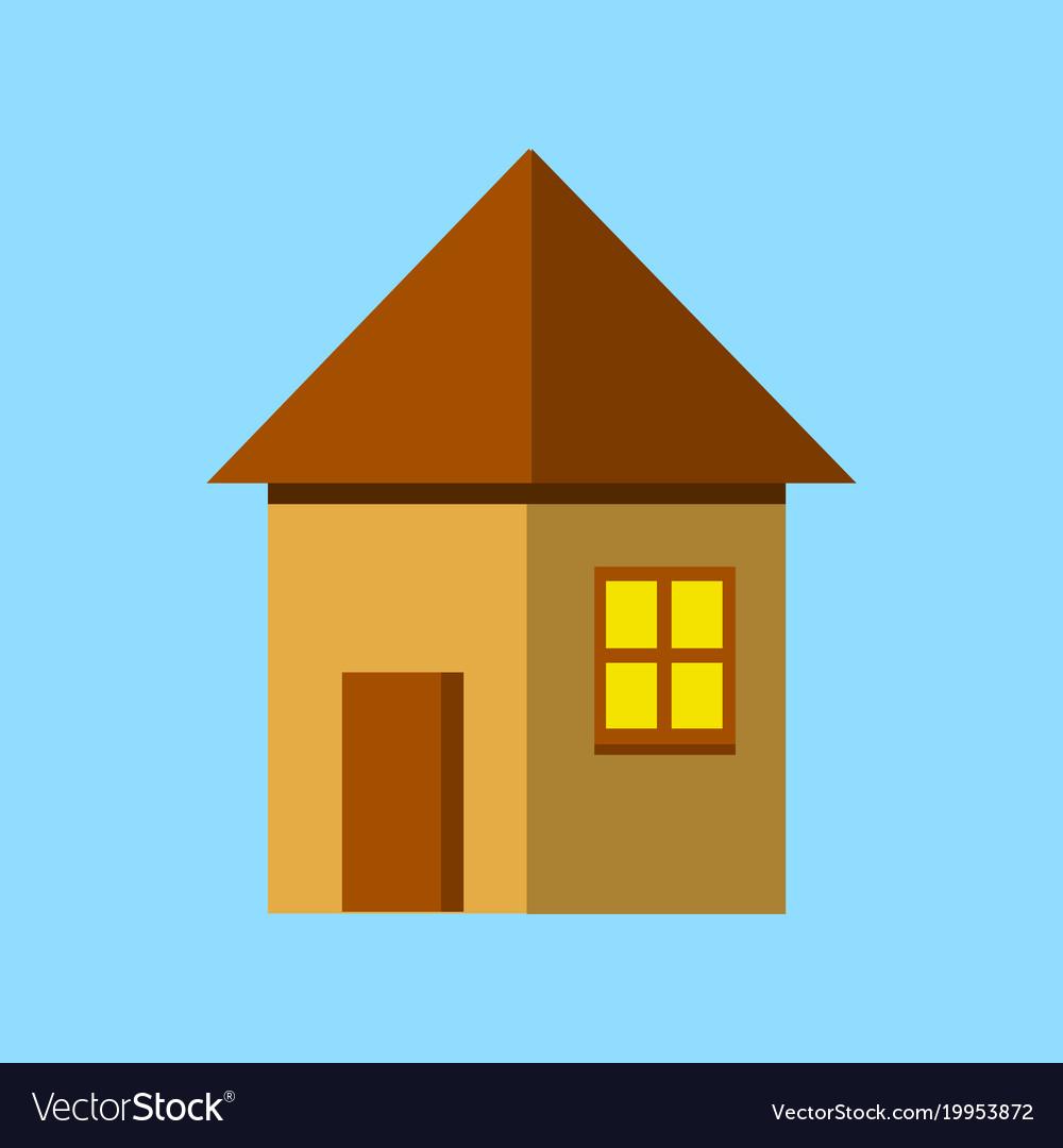 House flat icon flat style
