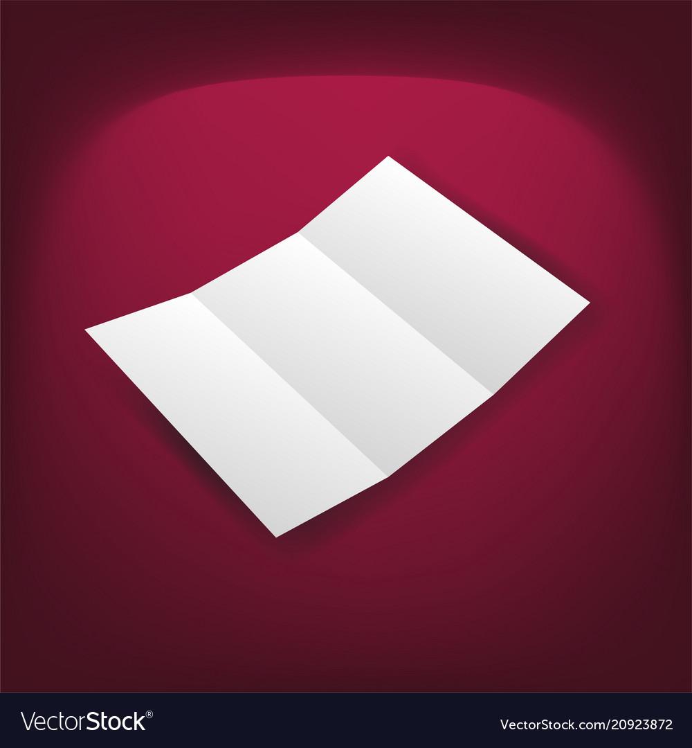 Identity design blank white folding paper flayer
