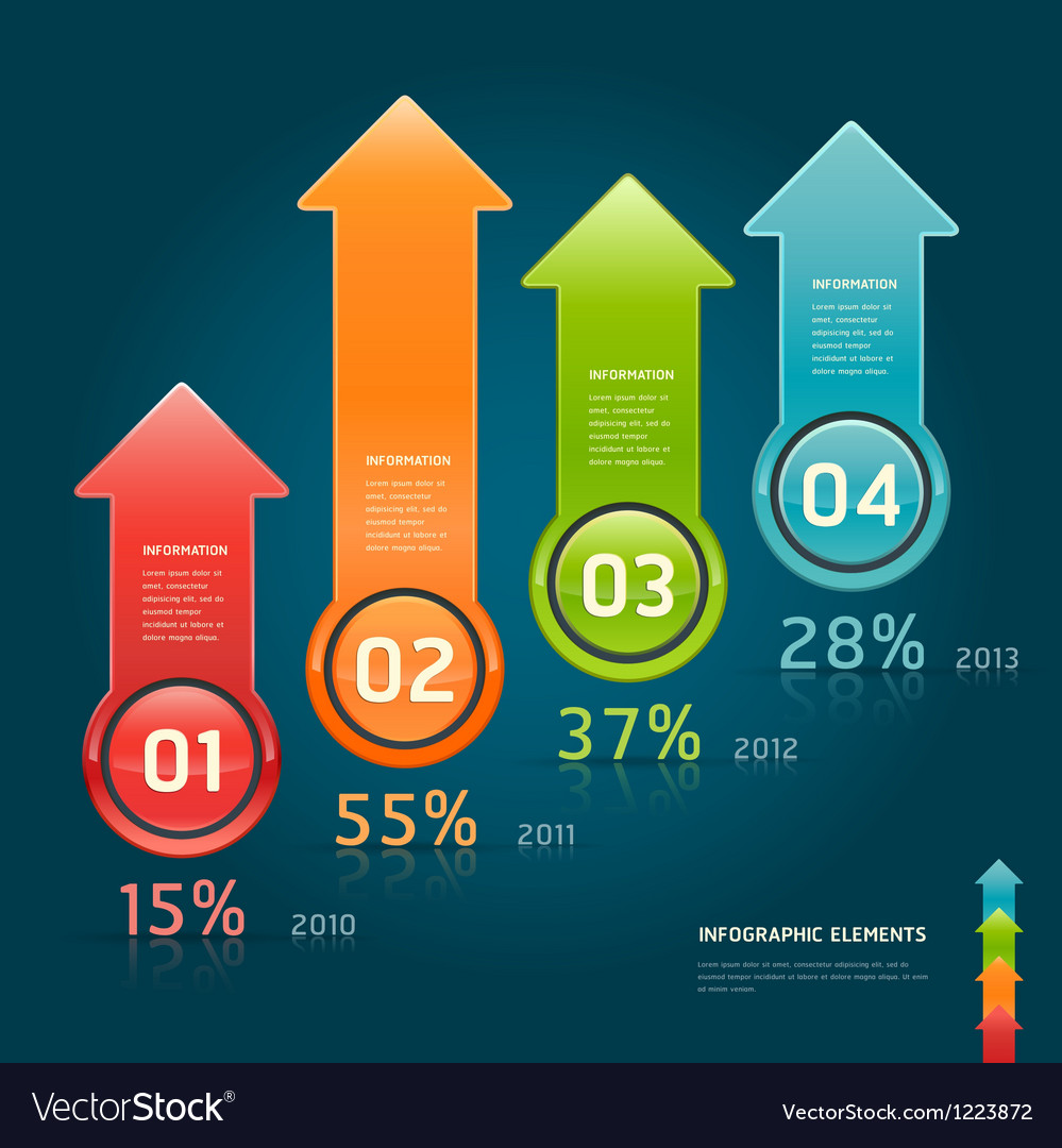 Infographics elements colorful arrow template