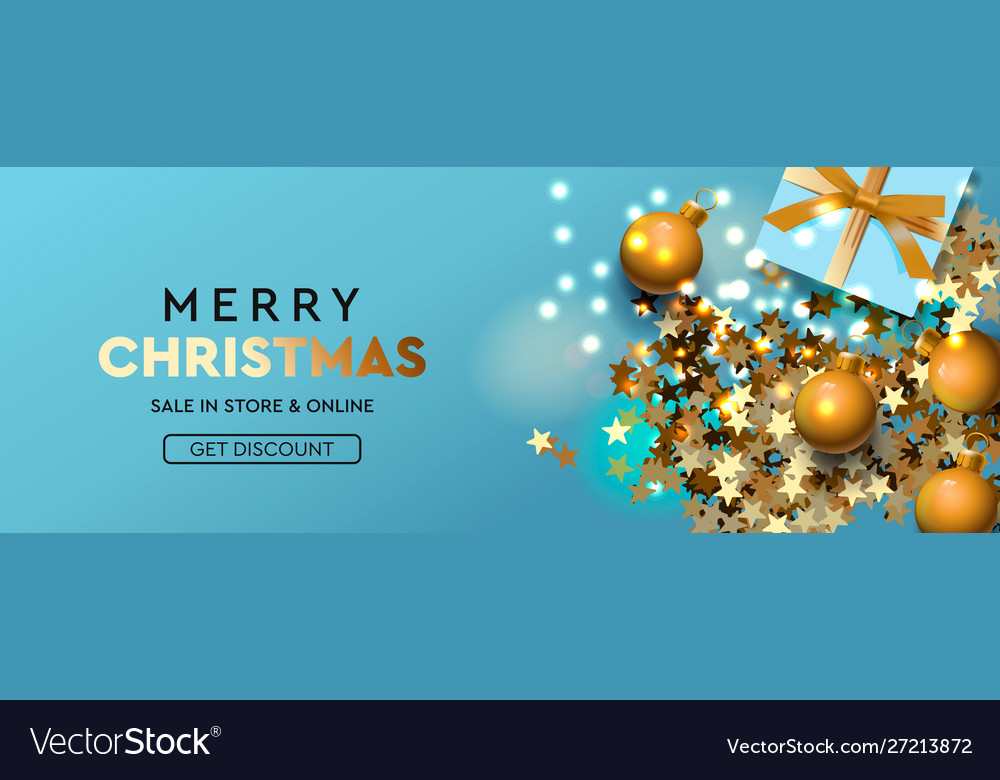 Merry Christmas & Happy New Year Merry christmas and happy new year banner xmas Vector Image