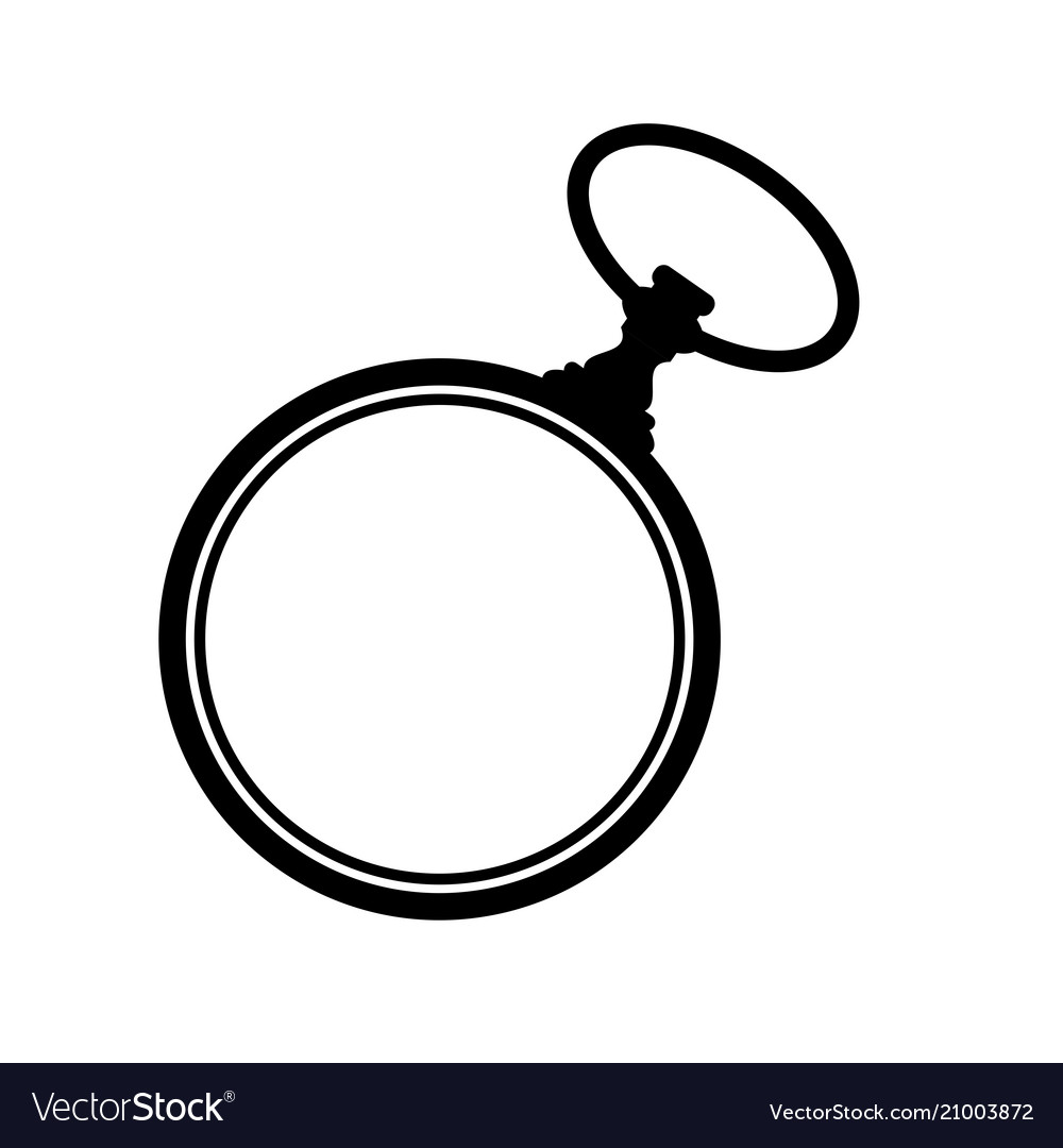 Pocket watch silhouette vector image