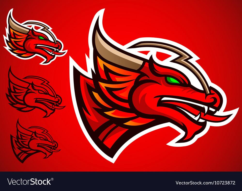 Red dragon emblem logo