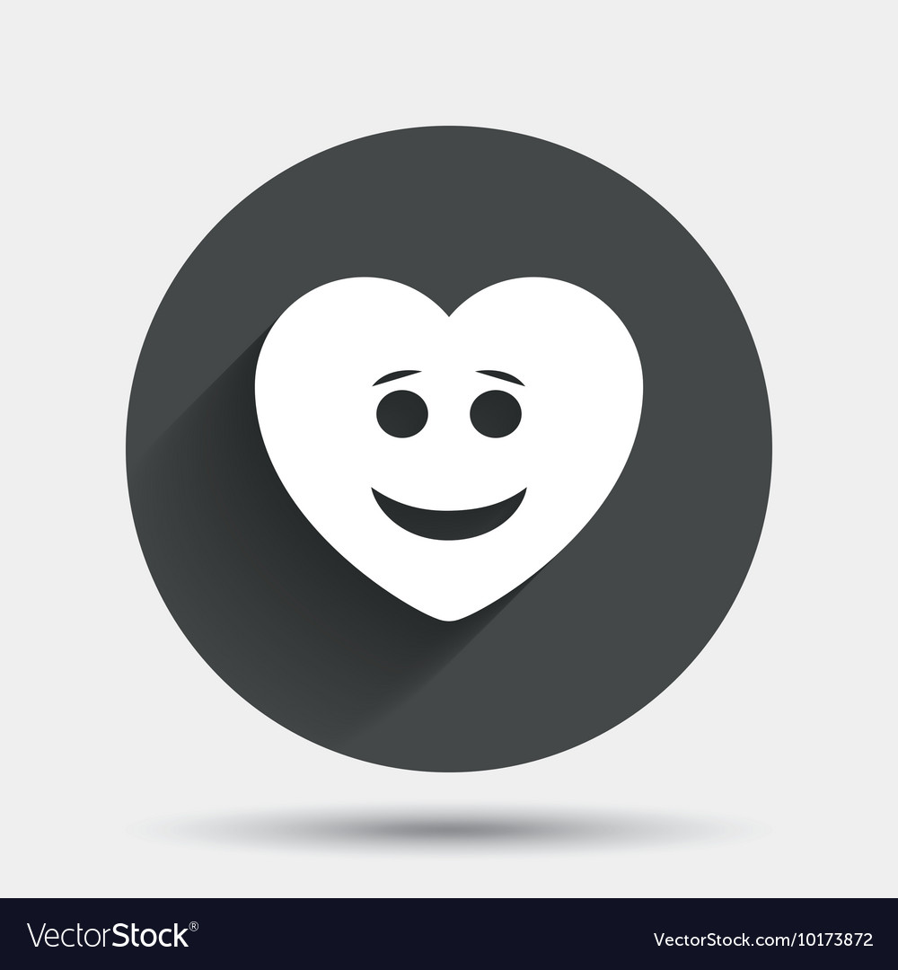 Smile Heart Face Icon Smiley Symbol Royalty Free Vector