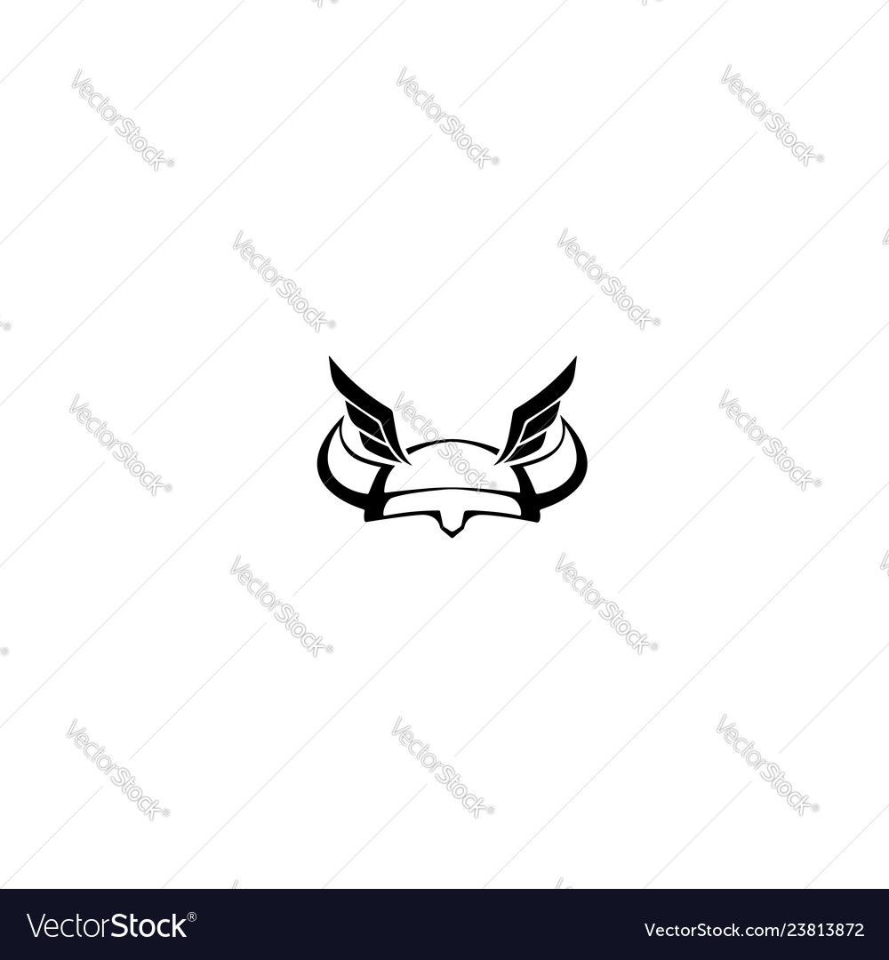 Viking-helmet-wings-logo
