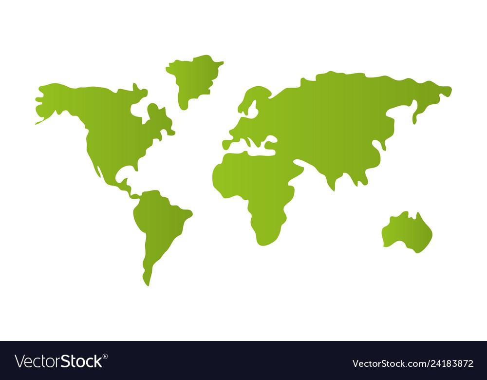 World Map Cartoon Royalty Free Vector Image Vectorstock