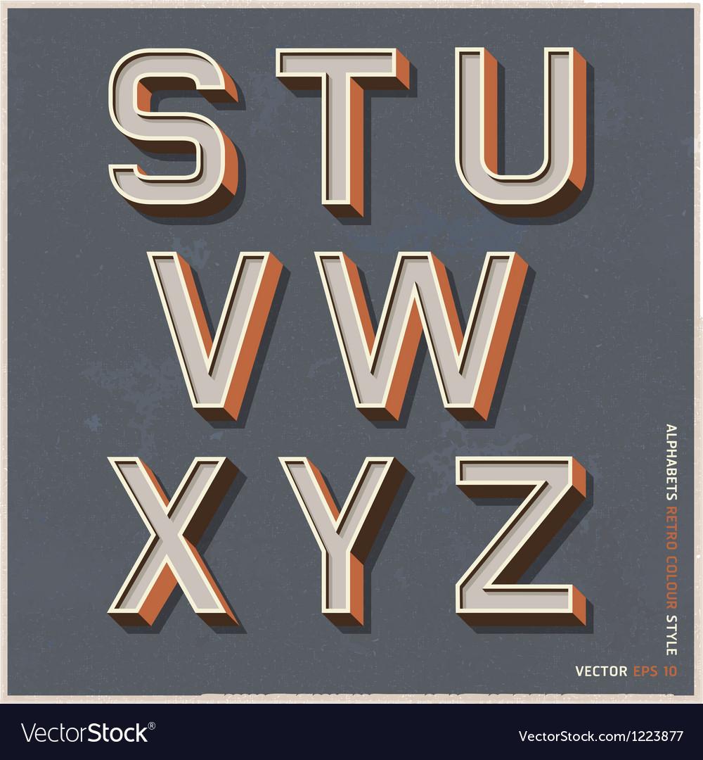 Alphabet retro color