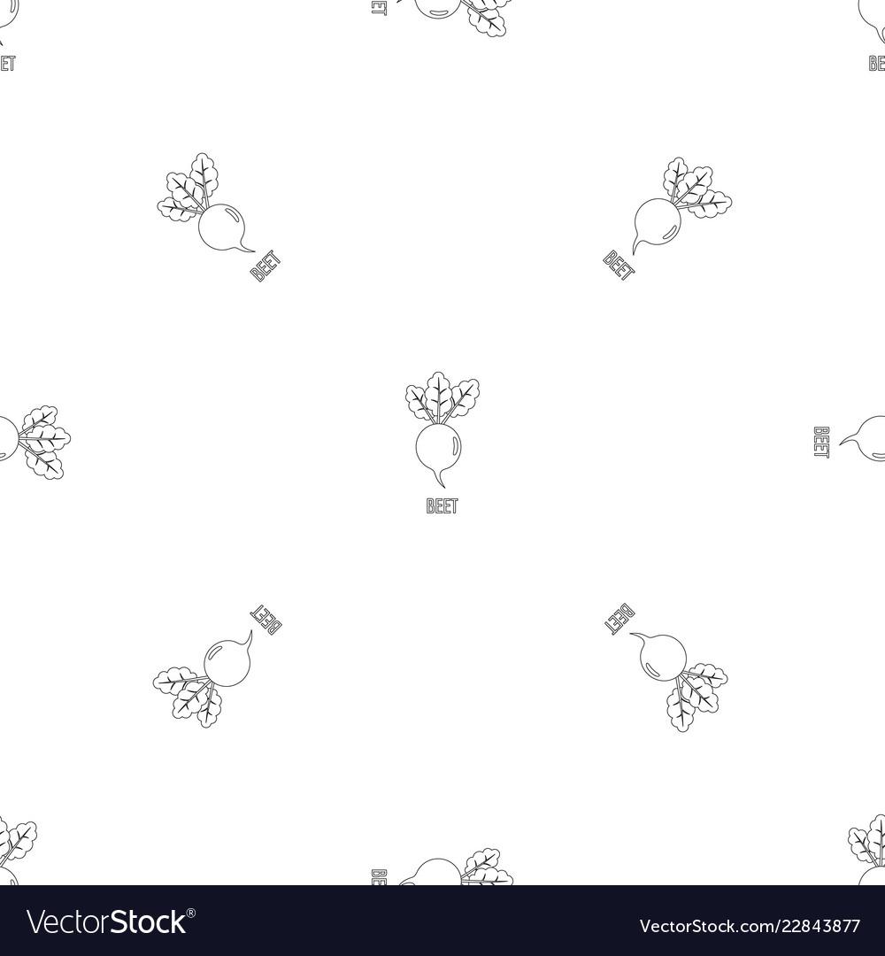 Beet pattern seamless