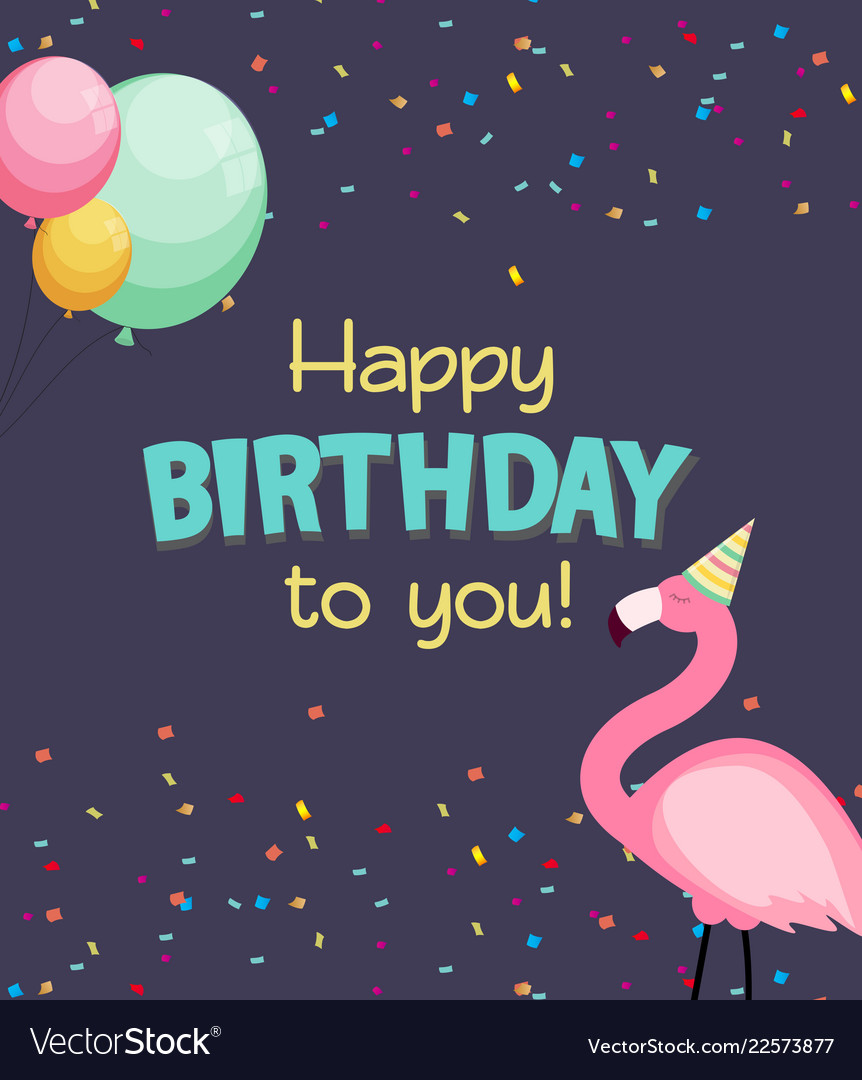 birthday card congratulation template royalty free vector
