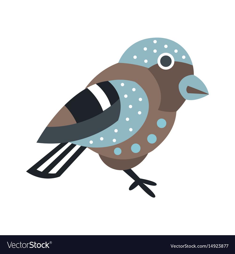 Cute small bird colorful cartoon character
