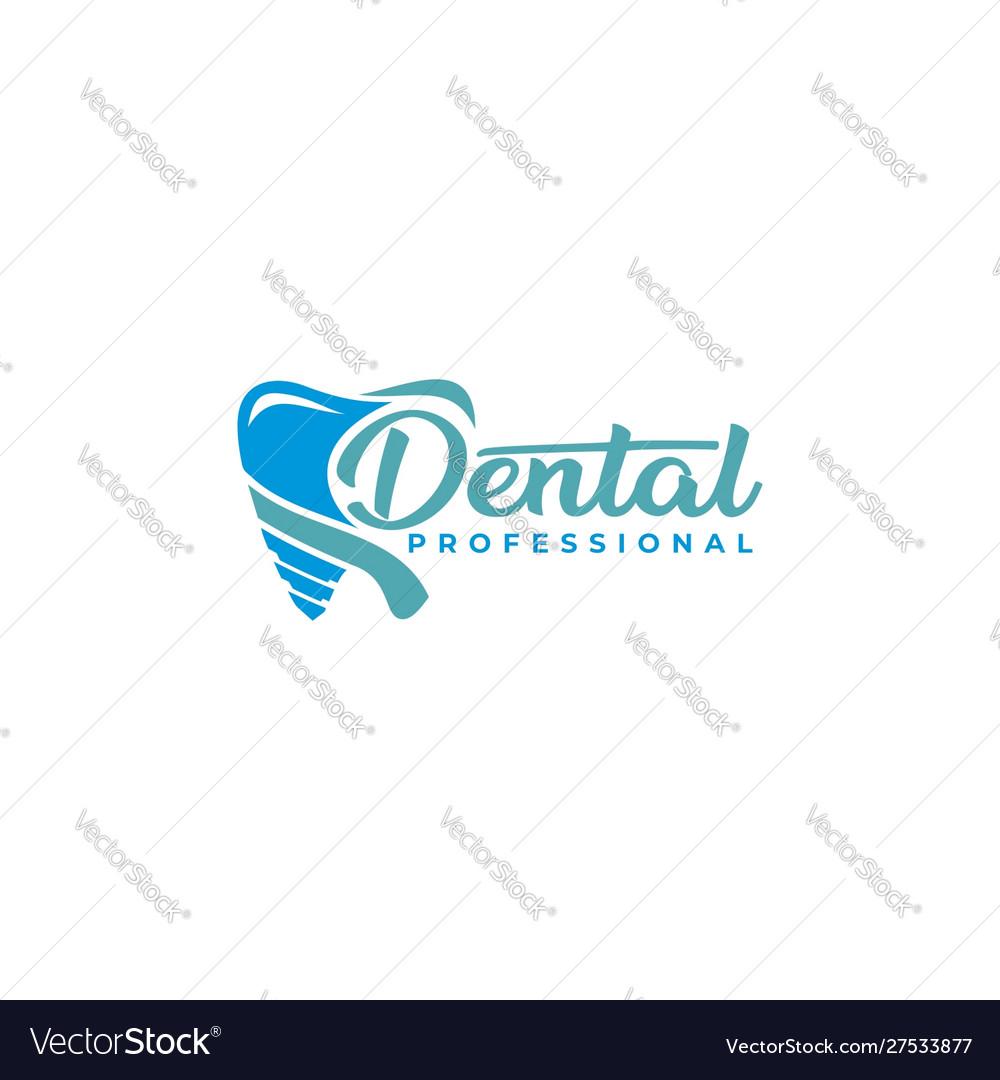 Dental professional logo template