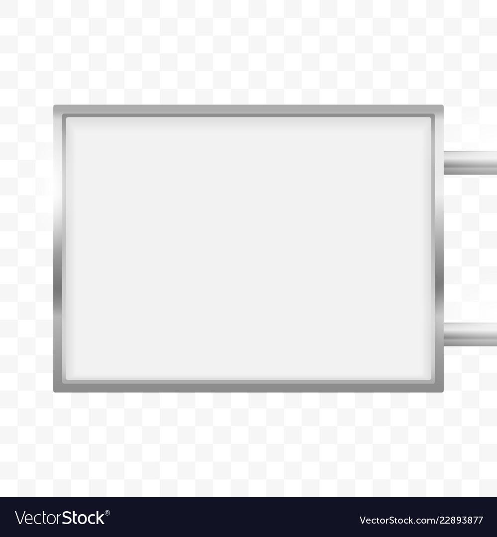 Rectangular signage light box signboard rectangle