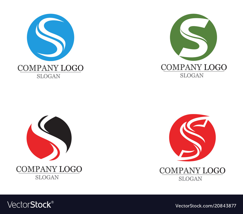 S logo and symbols template icons app