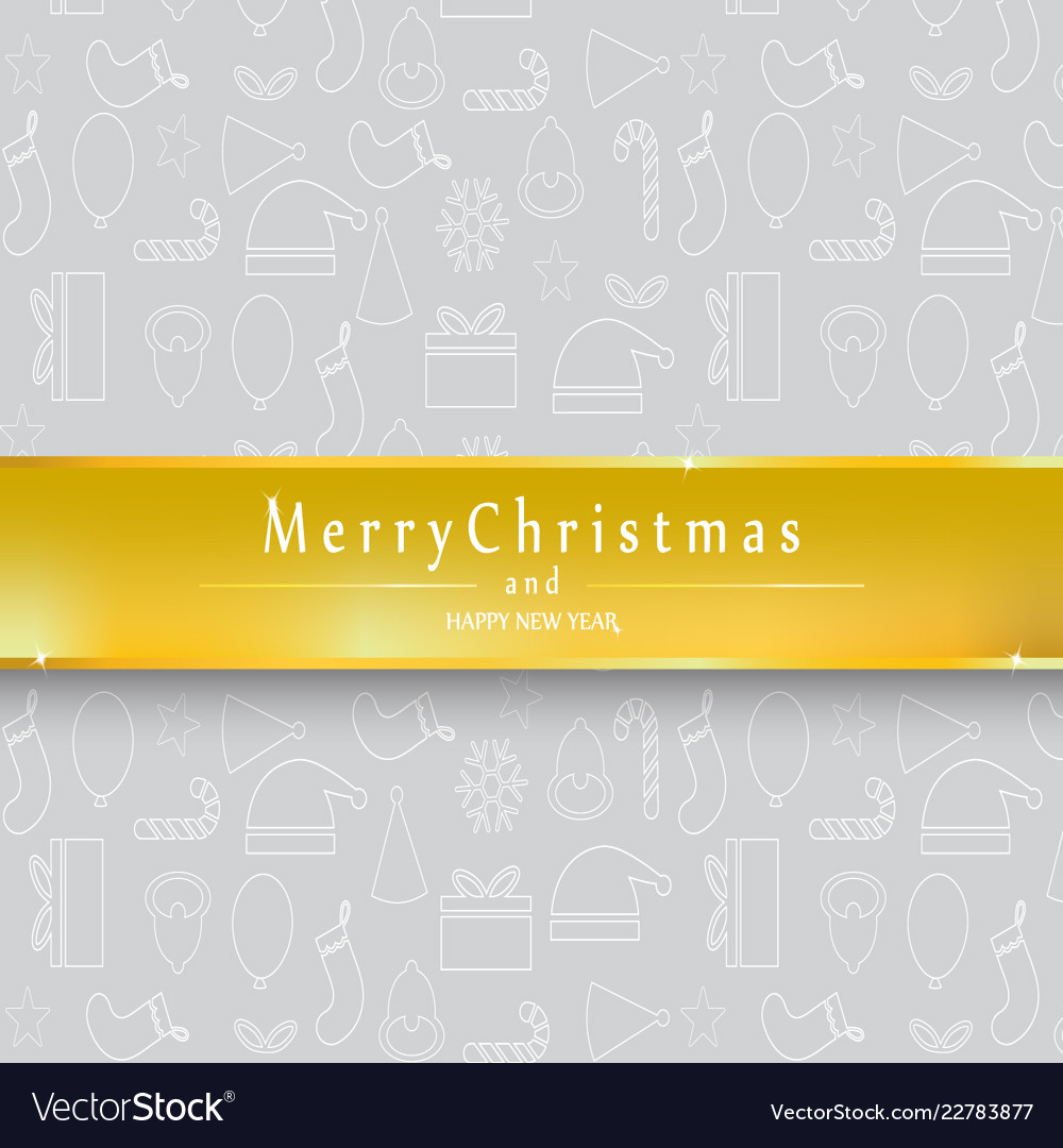 Silver background merry christmas and happy new