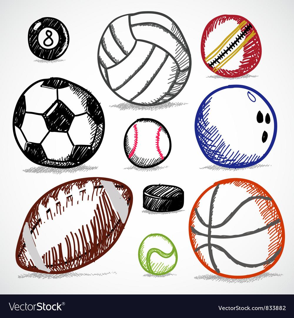 Ball Sport Doodles