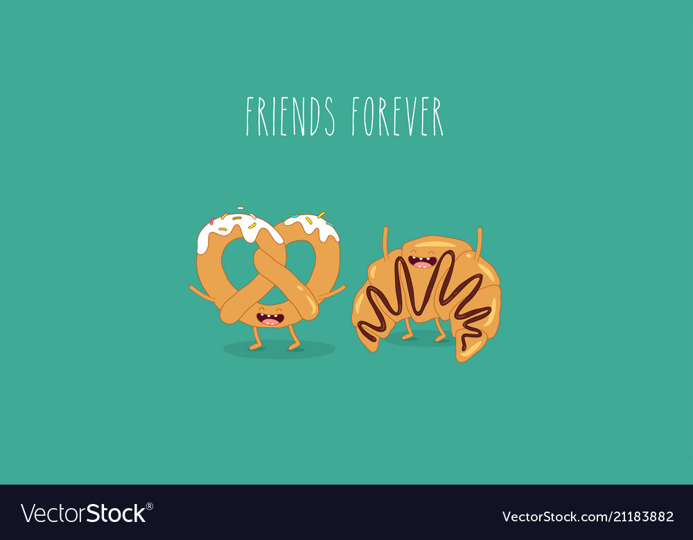 Croissant and pretzel friends