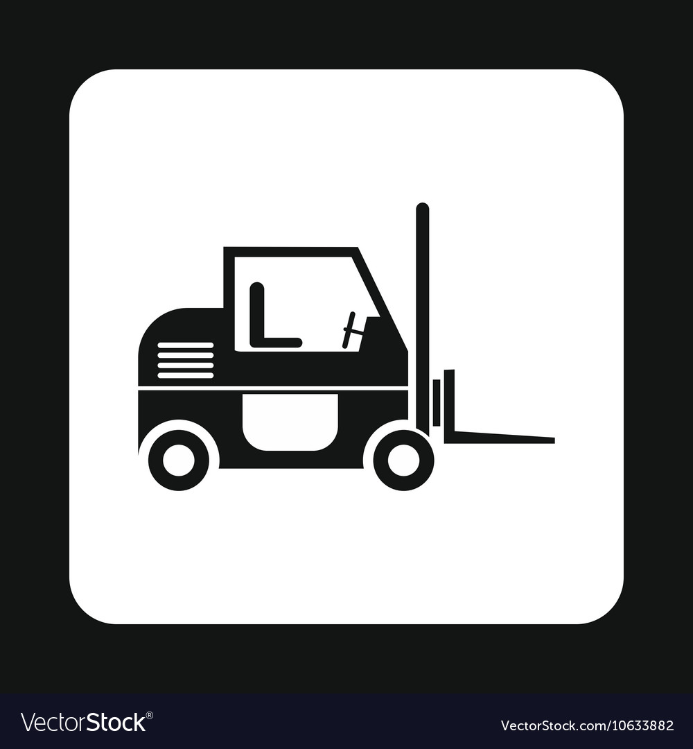 Forklift icon simple style