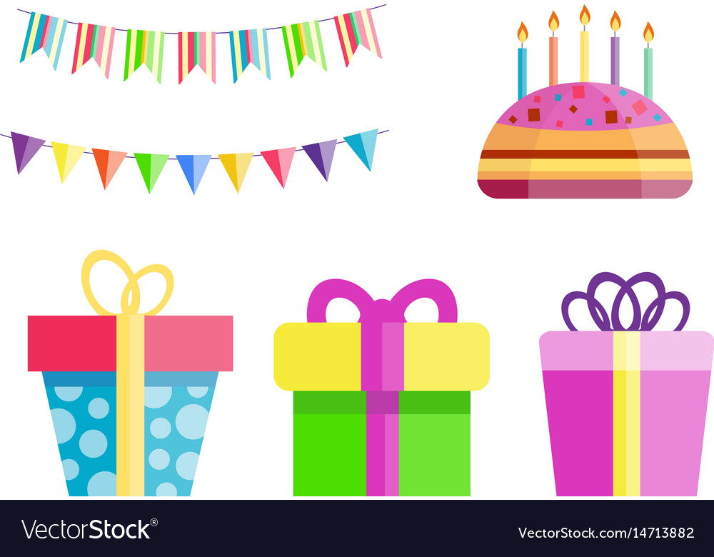 Party gift box celebration happy birthday surprise
