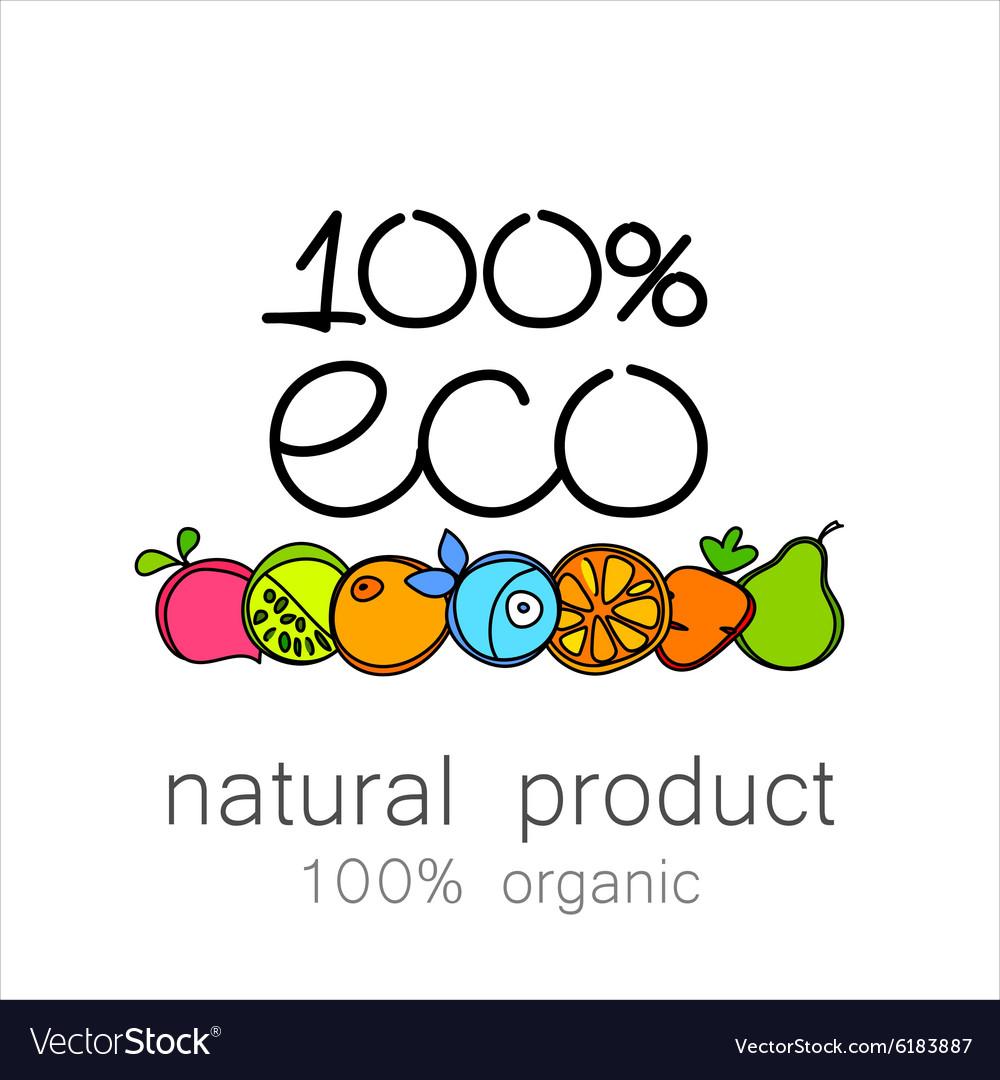 100 organic logo