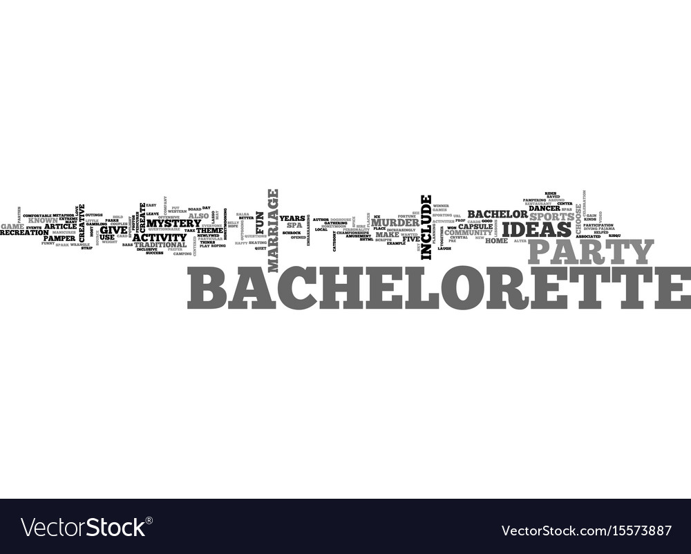 Bachelorette party ideas that won t leave you in Vector Image