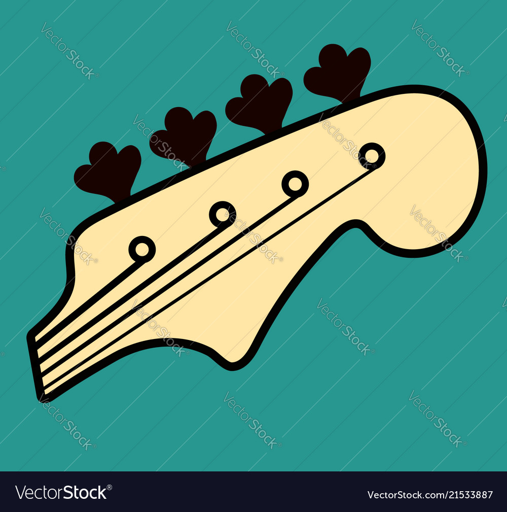 Bass guitar logo