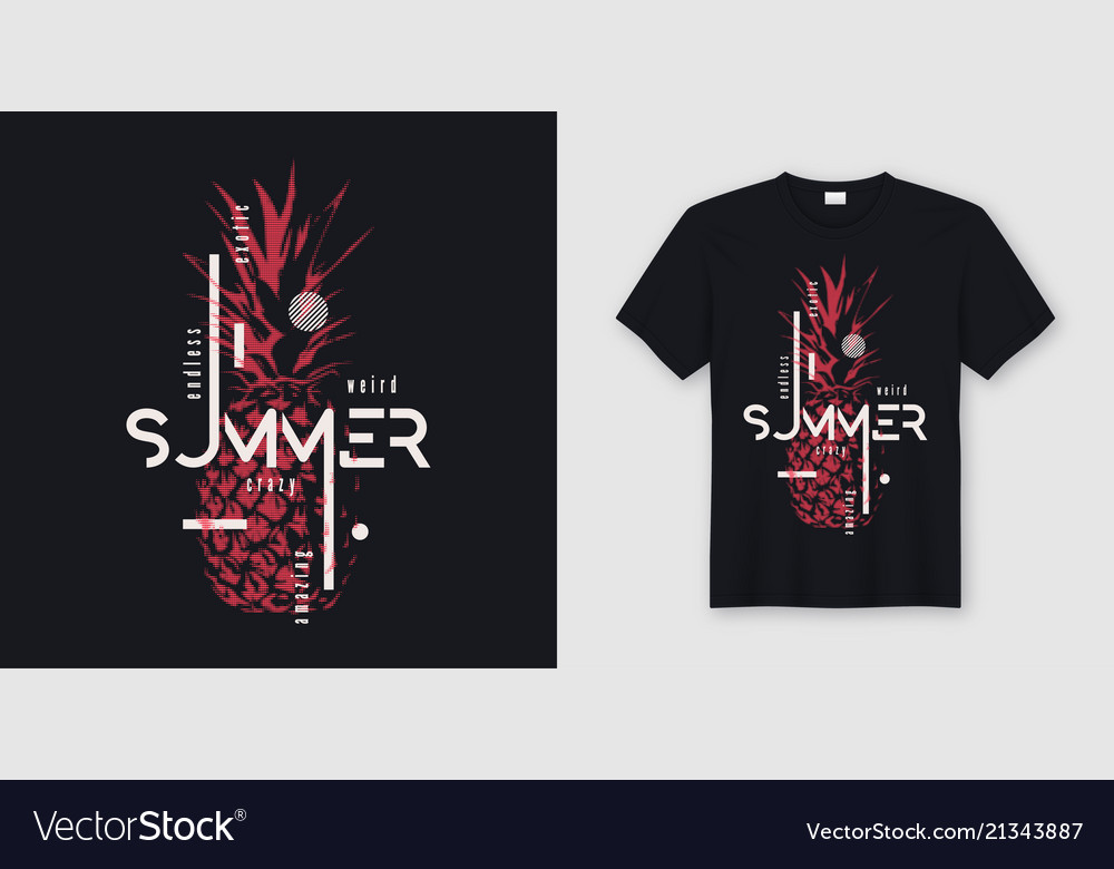 f7311a924 Endless summer t-shirt and apparel modern design Vector Image