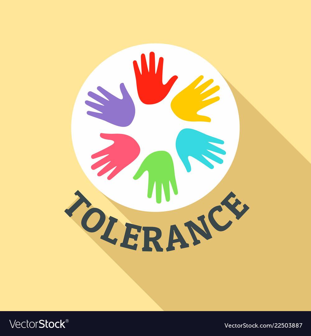 Hand people tolerance logo flat style