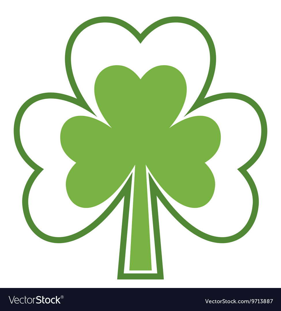 Shamrock icon Four leaf clover Abstract tree