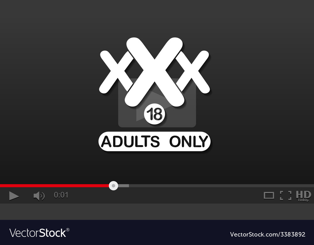 Adult xxx video player vector image